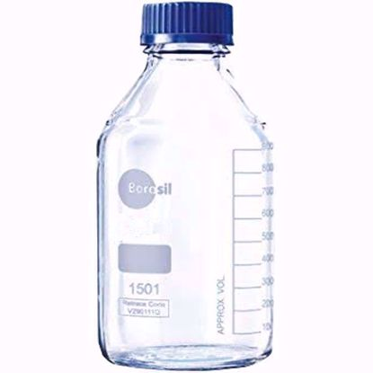 Reagent Bottle With Screw Cap and Pouring Ring - 2000 ml