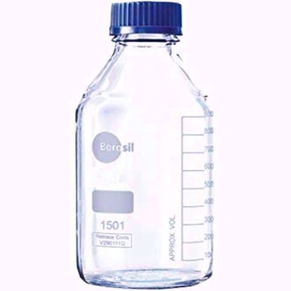 Reagent Bottle With Screw Cap and Pouring Ring - 3000 ml
