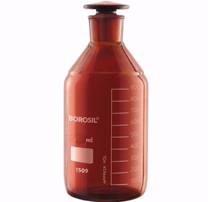 Amber Reagent Bottle with I/C Stopper - 60 ml