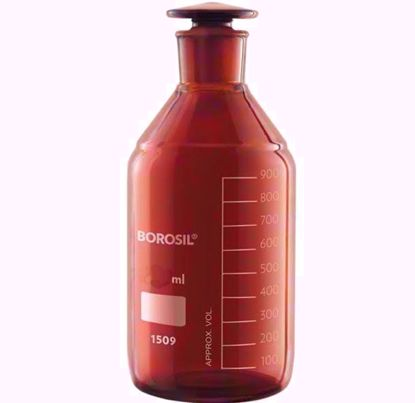 Amber Reagent Bottle with I/C Stopper - 1000 ml
