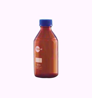 Amber Reagent Bottle with Screw Cap and Pouring Ring - 1000 ml