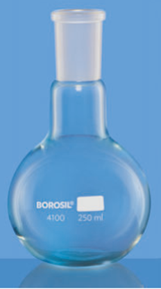 Flat Bottom Short Neck Boiling Flask with Interchangeable Joint - 2000 ml