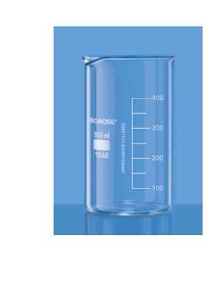 Tall Form Beakers with Spout - 50 ml