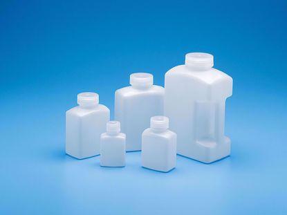 Amber Rectangular Bottle HDPE