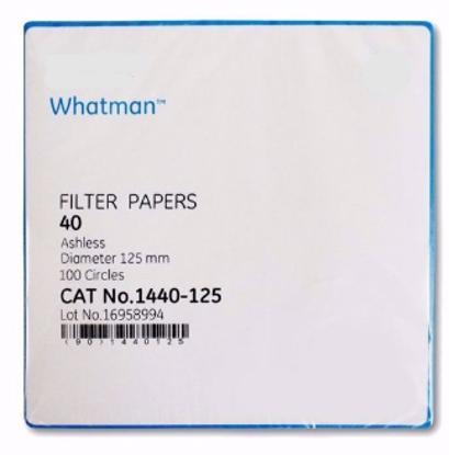 Grade 40 Ashless Filter Paper 125 mm