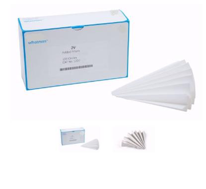 Grade 2V Pre-Folded Filter Paper for Qualitative Analysis - 125 mm