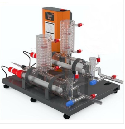 DOUBLE DISTILLATION UNITS WITH GLASS BOILER & GLASS CONDENSER