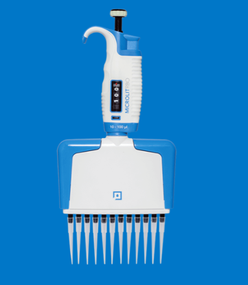 Micropipette Multi Channel Twelve Channel, Variable Volume, Fully Autoclavable